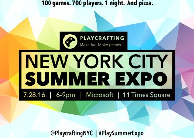 Playcrafting Summer Expo